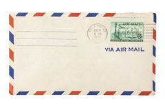Old air mail envelope Royalty Free Stock Image