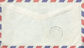 Old air mail envelope with stamp Stock Image