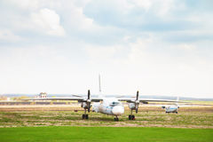 Old aircraft on the alternate aerodrome Stock Photo