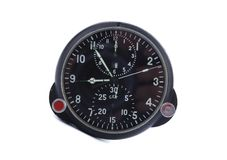 Old aircraft clock Royalty Free Stock Image