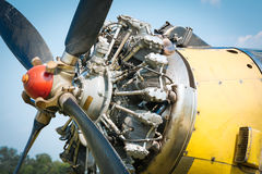 Old aircraft engine Stock Photos