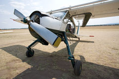 Old aircraft on the ground Royalty Free Stock Image