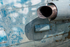 The old Aircraft Jet Engine. Exhaust pipe Royalty Free Stock Images