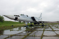 Old aircraft. Old military Tu-22M3 which never will fly again Stock Photos