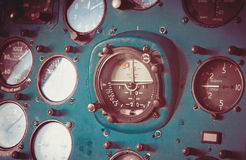 Old aircraft panel Stock Images