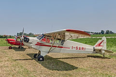Old aircraft Piper J-3 C I-Sari (1944) Royalty Free Stock Photos