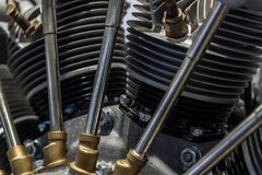 Old aircraft star air-cooled engine stock images