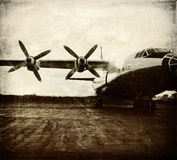Old aircraft, vintage background Stock Photography