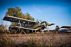 Old airfield two Royalty Free Stock Images
