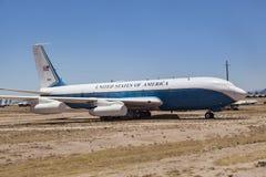 Old airforce one at Davis-Monthan Air Force Base AMARG boneyard Royalty Free Stock Photo