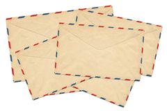 Old airmail envelope Royalty Free Stock Image