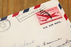 Old airmail letter Stock Image