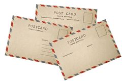 Old airmail Postcard Royalty Free Stock Photo