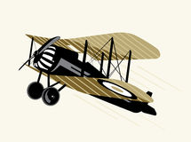 Old airplane. Old  brown airplane vector illustration Stock Photo