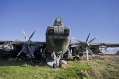 Old airplane - avro shackleton Royalty Free Stock Image