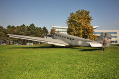 Old airplane in Belgrade. Serbia Stock Image