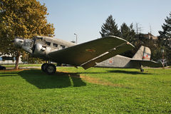 Old airplane in Belgrade. Serbia Stock Photos