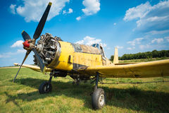Old airplane close up Royalty Free Stock Photos