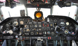 Old airplane cockpit Stock Image