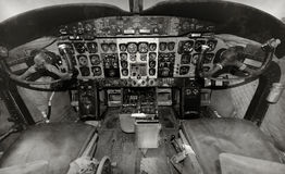 Free Old Airplane Cockpit Stock Photography - 45184492