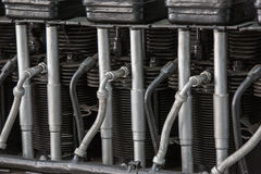 Old airplane engine details close up Stock Photography