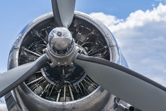 Old airplane engine Royalty Free Stock Photos