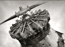 Old airplane engine Stock Image
