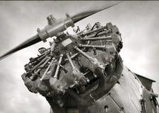 Old airplane engine Stock Image