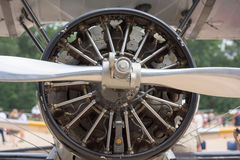 Old airplane iron propeller detail Royalty Free Stock Photos