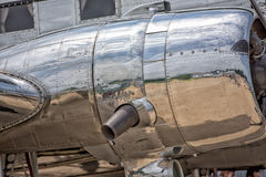 Old airplane iron propeller detail Royalty Free Stock Photo