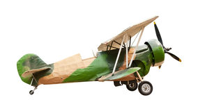 Old airplane isolated Royalty Free Stock Photography