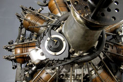 Old airplane motor Royalty Free Stock Photo