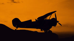 Old airplane park onl mountain Royalty Free Stock Image