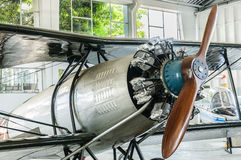 Old Airplane. Propeller of old Airplane in the museum Royalty Free Stock Photo