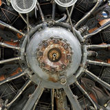 Old airplane star engine Royalty Free Stock Image