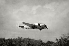 Old airplane takeoff Royalty Free Stock Photos