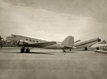 Old airplanes Royalty Free Stock Images