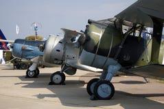 Old airplanes shown at MAKS International Aerospace Salon Stock Photo