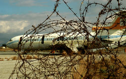 The Old Airport of Cyprus II. This is the old central airport of Cyprus, Nicosia. It have closed after the invasion. You can see the last landed plane with some Stock Photography