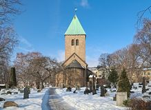 Old Aker Church, the oldest standing building in Oslo, Norway Stock Image