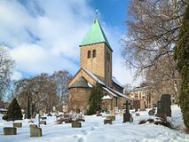 Old Aker Church, the oldest standing building in Oslo, Norway Stock Photo