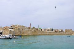 Old Akko cityscape, Israel. Royalty Free Stock Photo