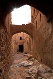 Old Al-Hamra Village Alleyway, Oman Stock Photos