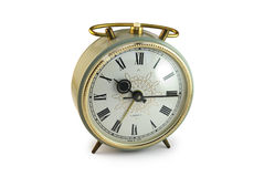 Old alarm clock. The old mechanical alarm clock Stock Photos