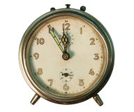 Old alarm clock. An old alarm clock isolated on white back ground Royalty Free Stock Image