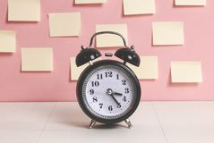 Alarm clock in vintage style royalty free stock photo