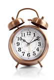 Old alarm-clock isolated Stock Images