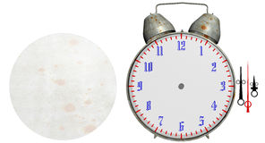 Old alarm clock isolated Stock Image
