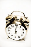 Old alarm clock isolated, vintage style Stock Image