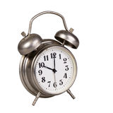 Old alarm clock on a white Royalty Free Stock Photos